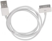 "Кабель Gembird ""CC-USB-AP1MW"" для Apple, 30-pin, белый (1.0м)"